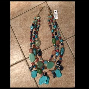 Chico's triple strand long necklace